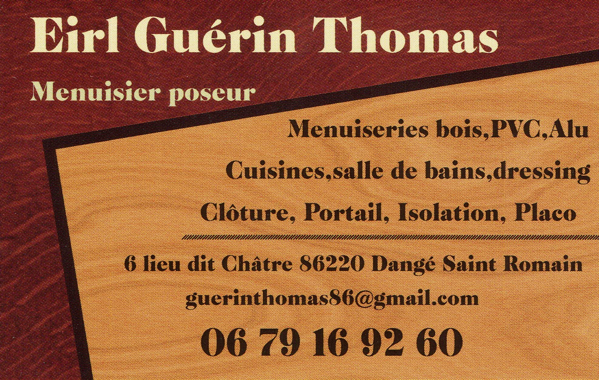 EIRL GUERIN THOMAS Dange Saint Romain